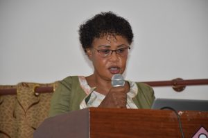 CREATES Centre Leader, Prof. Hulda Shaidi Swai presenting on Gender in Research in Higher Learning Institution during Gender Issuies Sensitization event held on 15th – 16th April, 2021 at NM-AIST, Arusha
